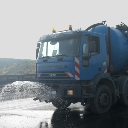 Unser Iveco-Tankwagen in Aktion