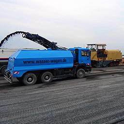 Unser 3-Achs-Tankwagen im Einsatz auf der A3 bei Würzburg